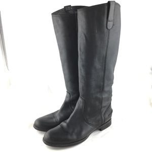 Madewell Archive boot black leather knee high tall